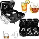 Ice Cube Trays, TERSELY Ice Cube Molds Set of 2, Silicone Ice Ball