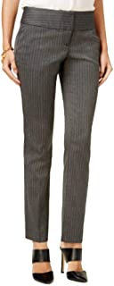 BCX Junior Pinstriped Straight Stretch Dress Pants