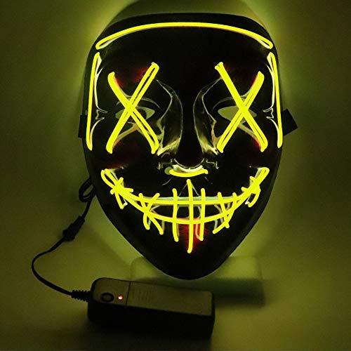 AuLinx Maschera LED Leggero Divertente Maschere Accessori per Costumi di Carnevale