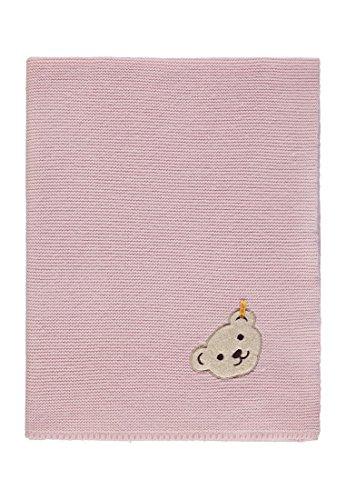 Steiff Baby-Mädchen Decke Strick Schlafsack, Rosa (Barely Pink|Rose 2560), One Size (Herstellergröße: 00)