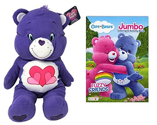 Care Bears 24' Plush Stuffed Animals (Harmony Bear & Book)
