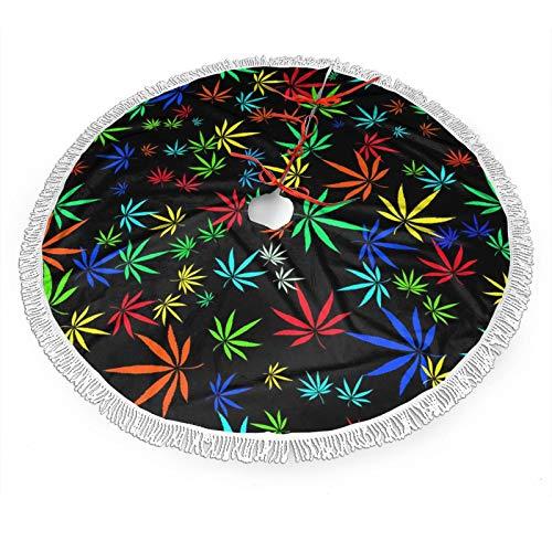 BIT Bunter Weihnachtsbaum-Rock mit Cannabis-Motiv, 121,9 cm, Weihnachtsbaum-Dekoration