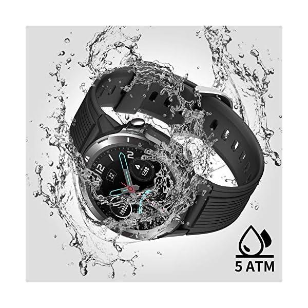 Reloj Inteligente Hombre Mujer, GRDE Smartwatch Redondo 12 Modo Deportivo con (Monitor de Ritmo Cardíaco/Sueño/Calorías… 6