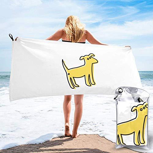 Unique Life Toalla de baño divertida para perro, toalla de gimnasio, toalla de playa, microfibra suave de secado rápido, ligero