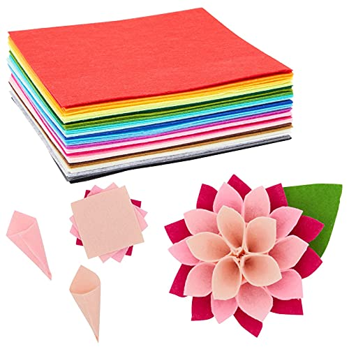 Felt Fabric Sheets for Crafting (8 x 8 Inches, 50-Pack)