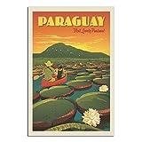 GANZAO Vintage-Reise-Poster, Paraguay, riesiges Lilienpad,