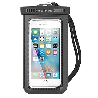 Universal Waterproof Case, TETHYS IPX8 Certified Waterproof Dry Bag for Cellphone iPhone 6 6S Plus, SE 5 5S 5C 7,Samsung Galaxy S7 S6 Edge,Note 6,5,4,HTC LG Sony Nokia Motorola,Nexus 5X 6P,HTC M9
