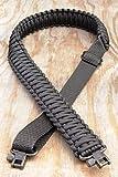 Correa Ajustable para Rifle de paracaídas de Caza de precisión con pivotes, Completamente Negro