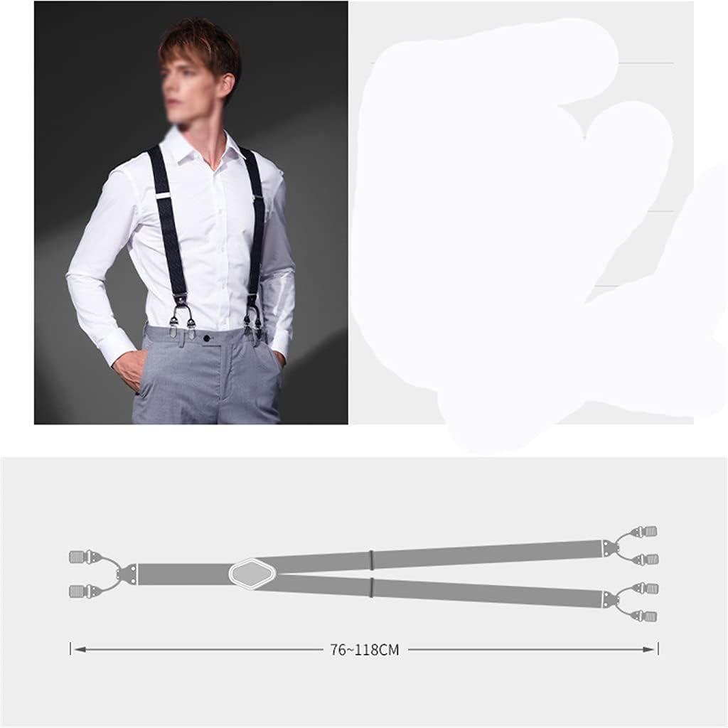 HLDETH Suspender Men's Clip Suspenders Adult Suit Pants Suspenders Men's Trousers Elastic Strap Clip British Tide (Color : C, Size : As the picture shows)