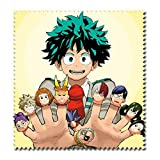 Raleighsee My Hero Academia Anime Cartoon Characters HD Printing Cotton Glasses Cloth Super Soft Superfine Fiber Cleaning Cloth for Glasses TV Screen(Style8)