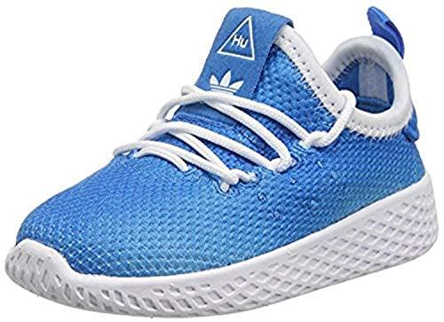 adidas Bambini Pharrell Williams Tennis HU Scarpe da Ginnastica Blu, 23.5