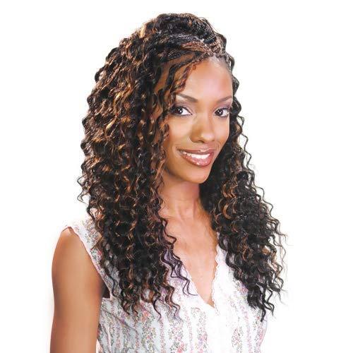 FreeTress Synthetic Hair Braids Deep Twist Bulk 22' (6-Pack, 1B)