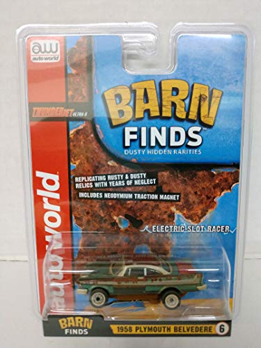 Auto World Barn Finds 1958 Plymouth Belvedere HO Scale Electric Slot Car