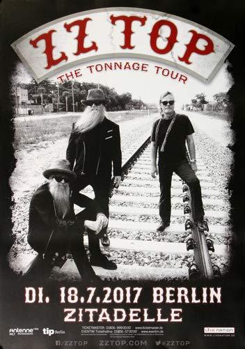 ZZ Top - The Tonnage, Berlin 2017 » Konzertplakat/Premium Poster | Live Konzert Veranstaltung | DIN A1 «