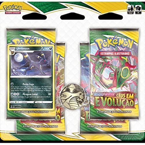 Pokemon Blister Quadruplo Umbreon Espada e Escudo 7 Céus em Evolução Copag - 30661