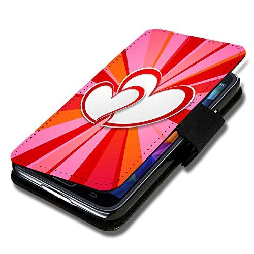wicostar Book Style Flip Handy Tasche Hülle Schutz Hülle Schale Motiv Foto Etui für LG Bello 2 / Bello II - Flip X17 Design8