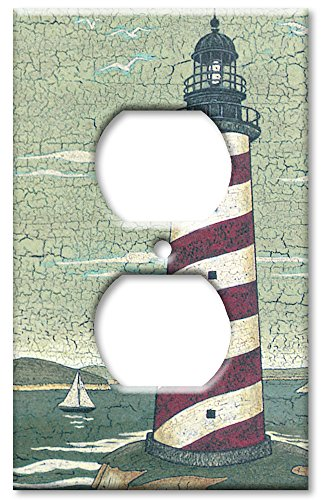 Art Plates - Outlet Cover OVERSIZE Switch Plate - Cape Lighthouse