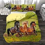 HAJYCFR Mädchen Jungen Bettwäsche 260x220cm Süßes Tier Pegasus Hund Bettbezug 3 Stück Bettwäsche 3D Digitaldruck Bettdecke extra große Bettbezug Schlafzimmer Set Queen Kinderbettwäsche für Mädchen Ju