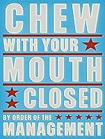口を閉じて噛むティンサインの装飾ヴィンテージの壁メタルプラークレトロな鉄の絵カフェバー映画ギフト結婚式誕生日警告