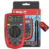 DC resistencia UNI-T UT33D//mie0045/uni-ball T Mult/ímetro Digital AC Voltaje Detector durchgangs Generador de diodo y prueba Corriente de medici/ón Rect/ángulo