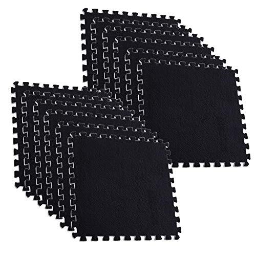 N/W 12 alfombrillas de puzzle de espuma, impermeable, para jugar y estudiar, para gimnasio