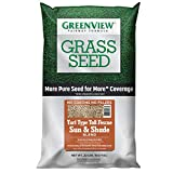 GreenView 2829348 Turf Type Tall Fescue Sun & Shade Blend Fairway Formula Grass Seed, 20 lb