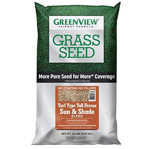 GreenView 2829348 Turf Type Tall Fescue Sun & Shade Blend Fairway Formula Grass Seed, 20 lb