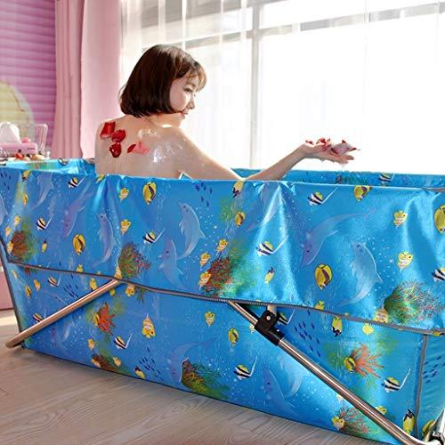 MKJ Bañera plegable para adultos Accesorios de baño largos y ...