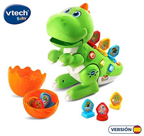 VTech - Dino Babysaurio Travieso, Simpática Mascota Interactiva Acompañada de 9 Fichas para Cambiar la Personalidad, Diversión Jurásica, Color Verde (80-518722) , color/modelo surtido