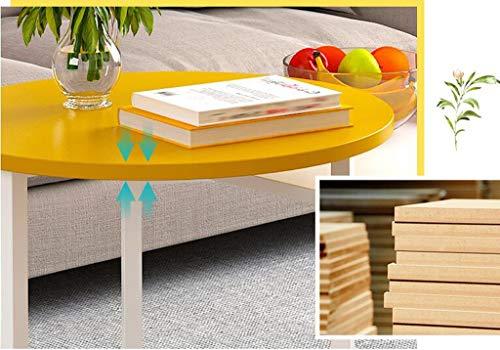 noyydh Salotto Tavolino Semplice Tavolo Quadrato Creativo Economia della Moda (Color : Yellow)