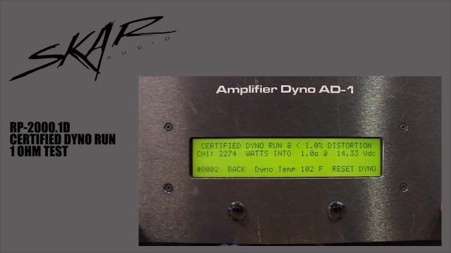 2000W Skar Audio RP-2000.1D Mono Block Class D Mosfet Subwoofer Amplifier