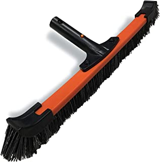 Daveyspa Light 18'' Handle Poly Carbon Material Swimming Pool Brush PP Bold Brush Wall, Tile and Floor Curved Cleaning Bru...