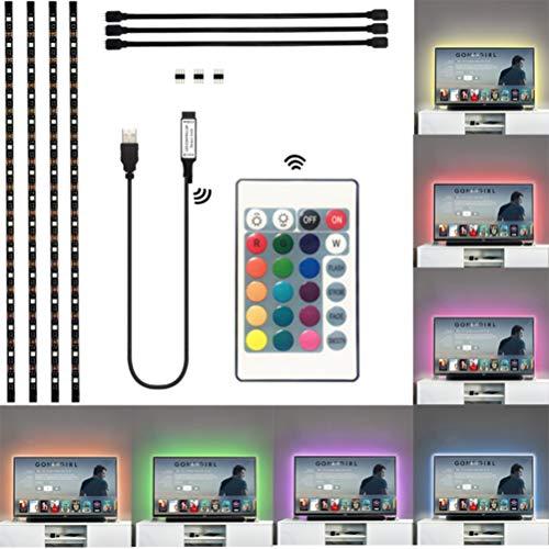 Einsgut achtergrondverlichting voor tv, LED-achtergrondverlichting 5050 leds, USB-achtergrondverlichting voor pc, flatscreen, TV-kasten en huishoudtextiel