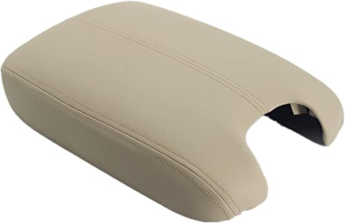 Ezzy Auto Beige Leather Suture Console Armrest Lid Cover for 2008 2009 2010 2011 2012 Honda Accord Center Console Cov...