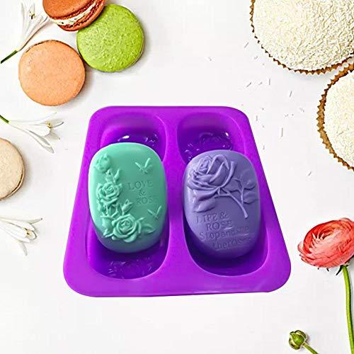 Handgemaakte zeep mal, siliconen mal liefde roos vlinder patroon voedsel kwaliteit siliconen mallen DIY decoreren gereedschap