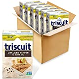 Triscuit Cracked Pepper & Olive Oil Whole Grain Wheat Crackers, 6 - 8.5 oz Boxes