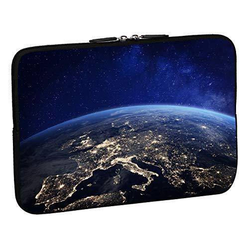 PEDEA Design Schutzhülle Notebook Tasche bis 15,6 Zoll (39,6cm), Space Night