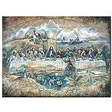 Puzzle 1000 Piezas Última Cena religión/Rompecabezas de Madera Adultos Alivio del estrés niños Juguetes educativos DIY 50x75cm