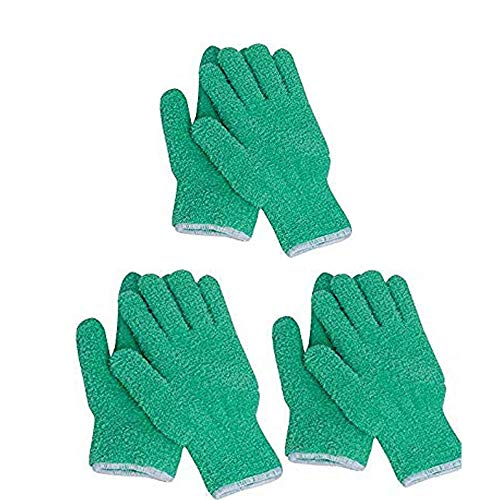 EvridWear Microfiber Auto Dusting Cleaning Gloves for Cars and Trucks, Dust Cleaning Gloves for House Cleaning, Perfect to Clean Mirrors, Lamps and Blinds (3Pairs L/XL)