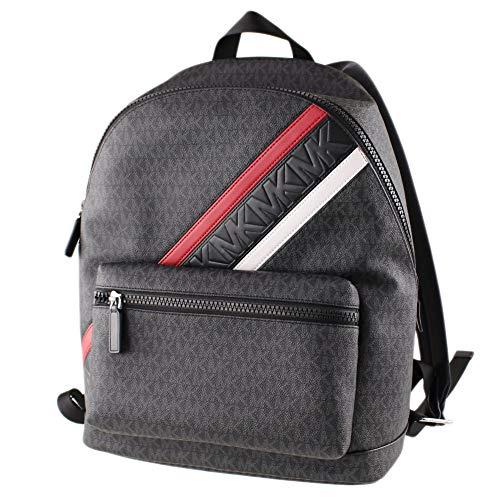 Michael Kors Black Crimson Signature Large Cooper Backpack