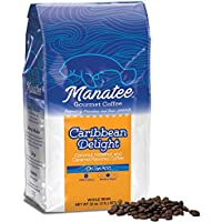 Manatee Caribbean Delight Whole Bean Coffee 2 Pound Bag