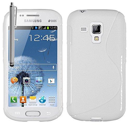 Samsung Galaxy Trend S7560 composto da custodia HCN phone S-Line-Custodia in TPU Gel Silicone Cover morbida per Samsung Galaxy Trend S7560