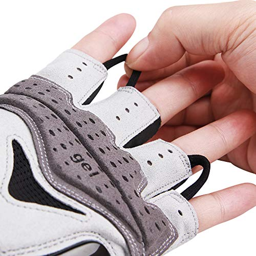 Cycling Gloves for Men Women - Breathable Gel Road Mountain Bike Riding Gloves - Anti-Slip Half Finger Glove for Fitness Cycling Training Outdoor Sports - Gloves for Pull-Ups