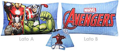 Hasbro Avengers 6388673R631 Completo Letto, 100% Cotone, Azzurro, 39x30x4 cm