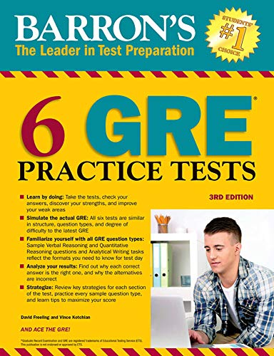 6 GRE Practice Tests (Barron's Test Prep)