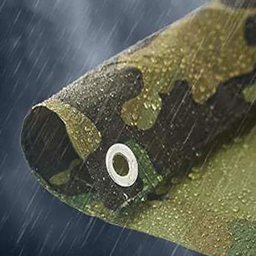 LHL-DD Heavy Duty Tarpaulin Waterproof Cover Tarp Anti-Aging 3x3.6m/10x12ft Green Tarpaulin for Camping, Fishing, Gardening