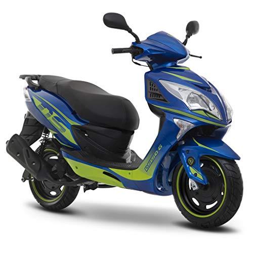 Motocicleta Italika de Motoneta- Modelo DS150 G Azul Verde