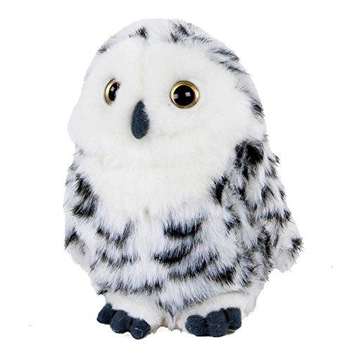 Teddys Rothenburg Kuscheltier Schneeeule 17 cm stehend weiß/schwarz Plüschschneeeule Plüschtier