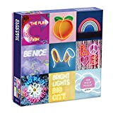 """Galison Electric Confetti Puzzle, 300 Pieces, 21.25"""" x 16.14"""" – Features 12 Images of Bright, Whimsical Neon Signs – Challenging, Perfect for Family Fun, Multicolor (073536270X)"""