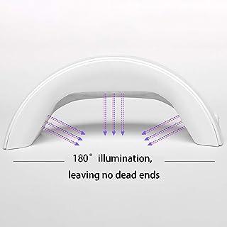 Secadores de UñAs 36W Inducción inteligente UV LED Lámpara de uñas Clavo Pegamento Secado rápido Hornear Lámpara de uñas Tienda de herramientas esenciales 110 / 240v,White